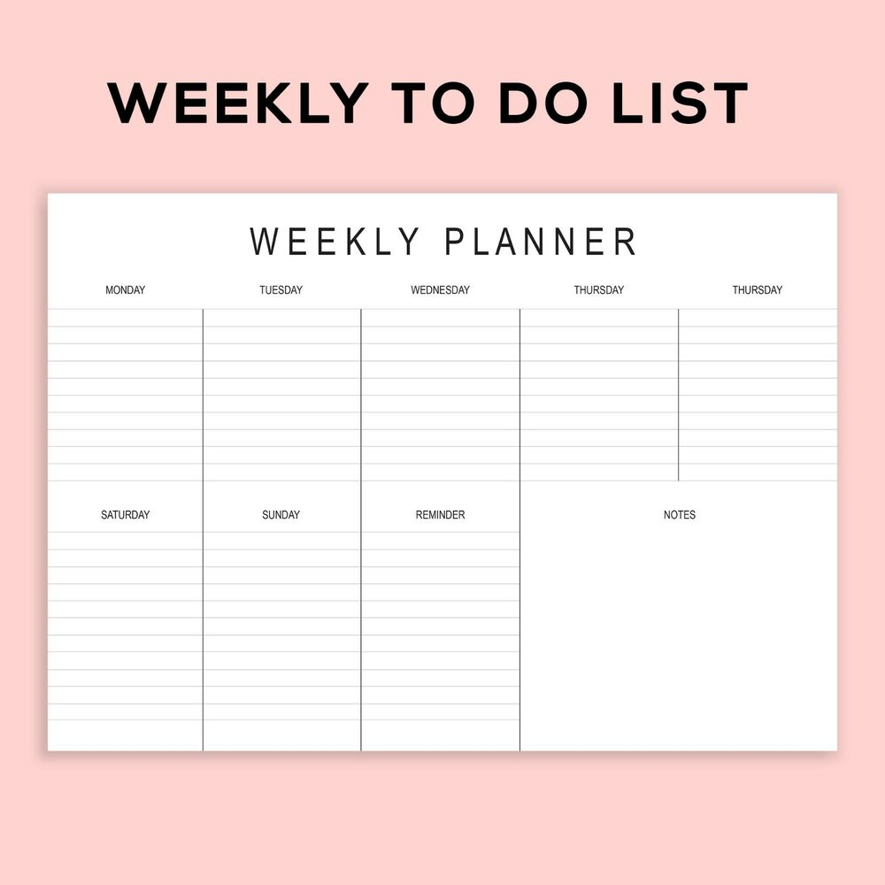 It is a picture of Monster Printable Weekly Planner Template