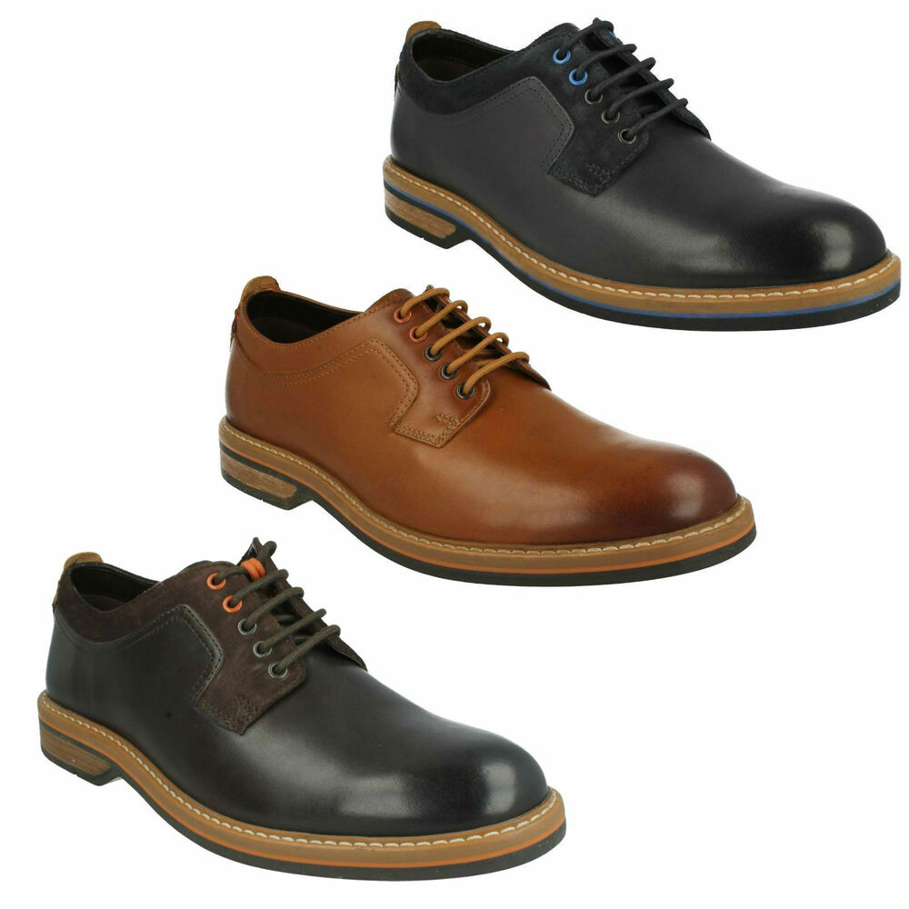 Pitney Walk Mens Clarks Leather Lace Up Formal Work Office Derby Shoes Size Ebay
