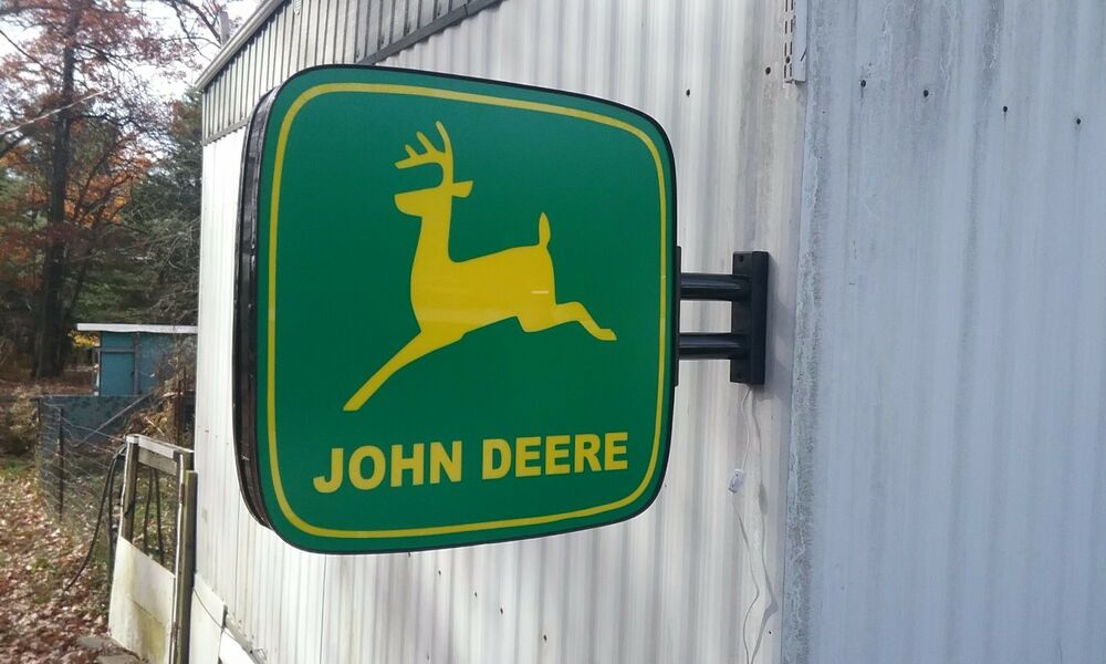 john deere lighted sign double sided wwall mount  ebay