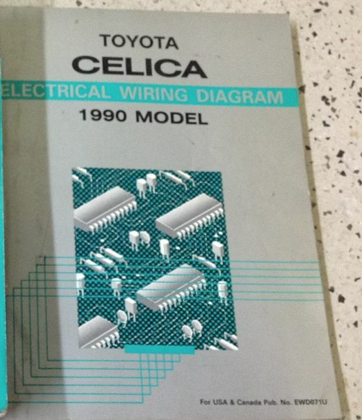 1990 Toyota Celica Electrical Wiring Diagram Service Shop Repair Manual Oem Ewd