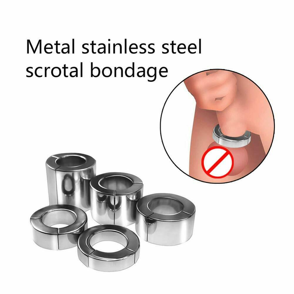 heavy duty magnetic stainless steel ball stretcher chastity ring dia 34mm 40mm ebay. Black Bedroom Furniture Sets. Home Design Ideas