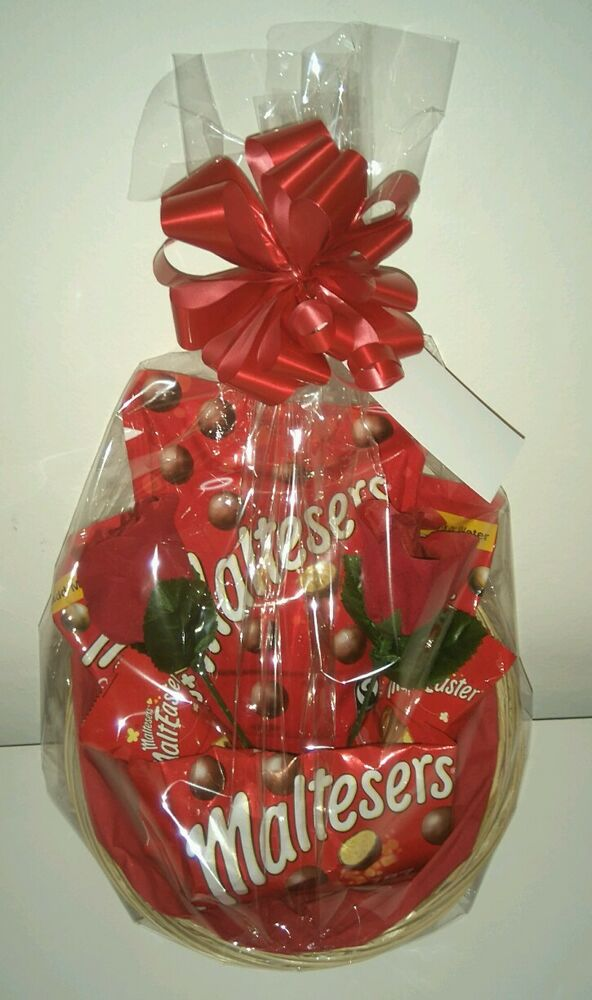 Valentines maltesers gift hamper birthday gift basket with bow tag valentines maltesers gift hamper birthday gift basket with bow tag ebay negle Image collections