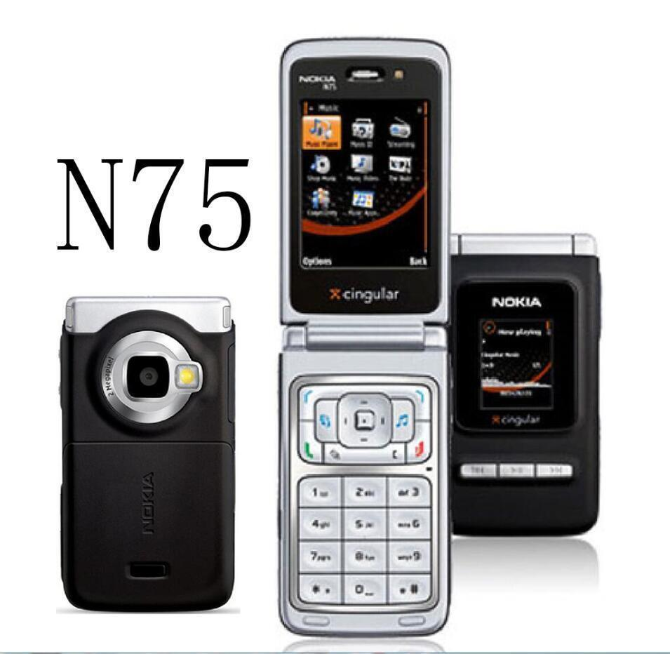Nokia N75 Cell Phone Bluetooth 2mp 2g 3g Camera 24 Fm Music Celluar