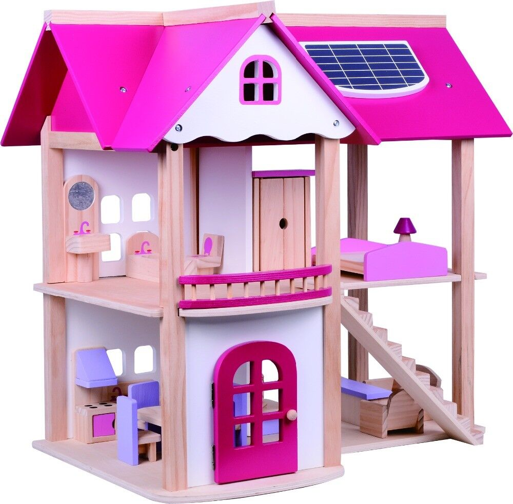 Toys For House : Kids girls wooden dolls house children furniture cottage