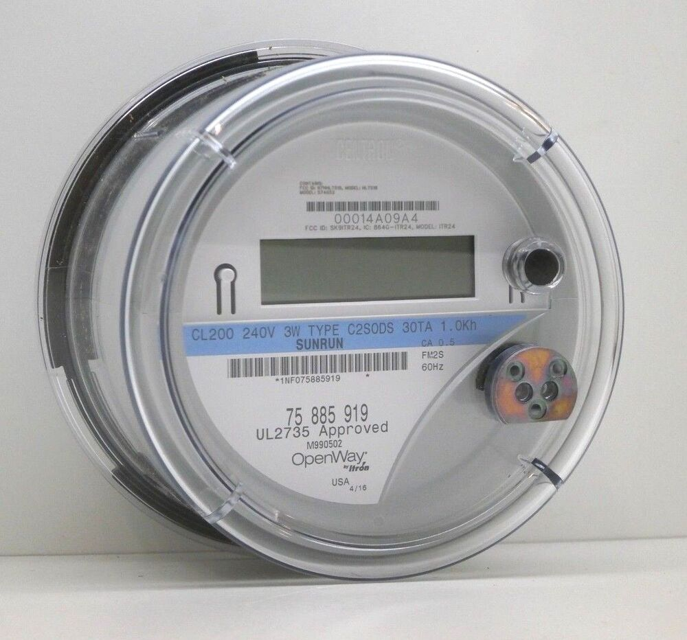 Itron Electric Meters : Itron sunrun openway centron wireless smart watthour meter