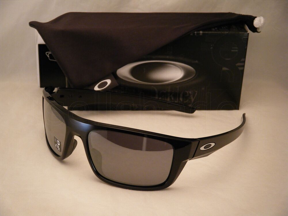 Oakley Drop Point Polish Black W Black Iridium Lens New