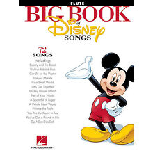 BIG BOOK OF DISNEY SONGS FLUTE SHEET MUSIC SONG BOOK