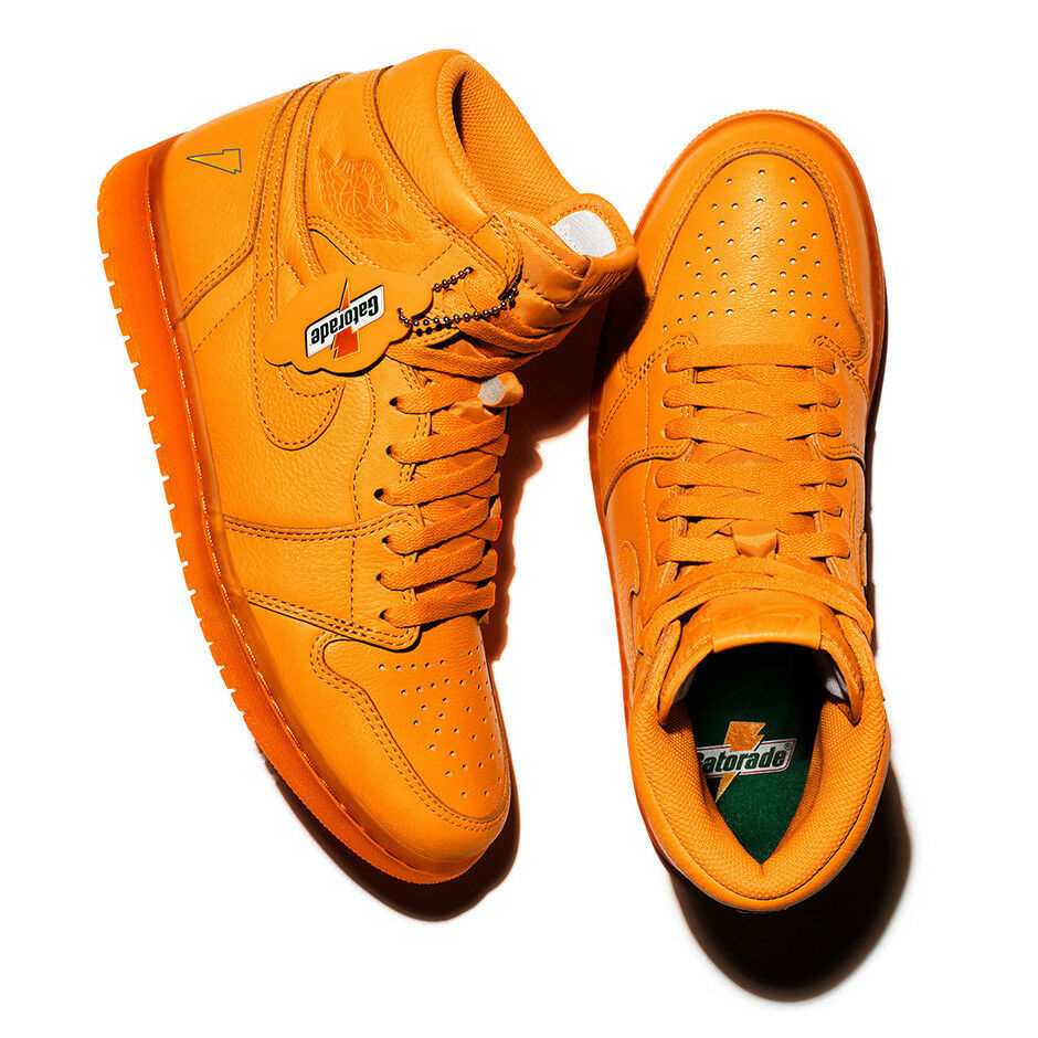 5d2a0645fd2 Details about air jordan 1 Retro High OG GATORADE ORANGE PEEL US MENS SHOE  SIZES AJ5997-880
