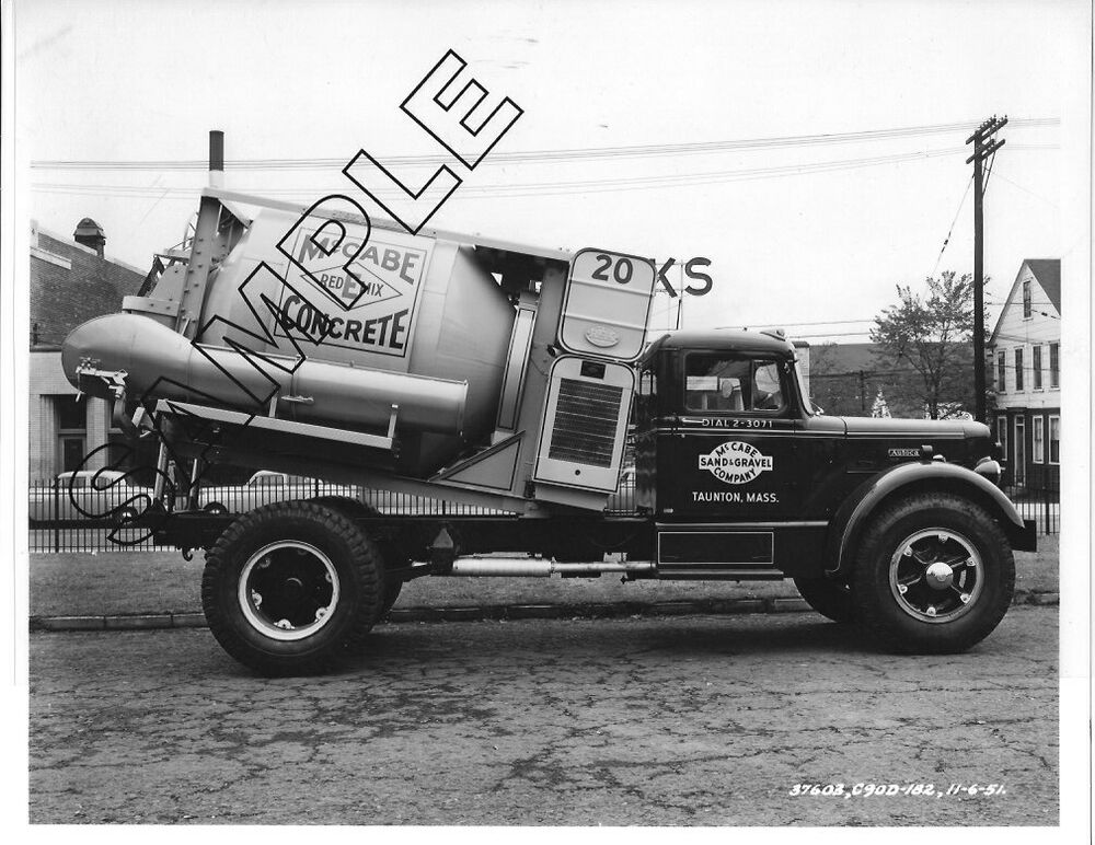 Details About 1951 Autocar C90 Redi Mix Truck Mccabe S G Co Taunton M 8x10 B W Photo