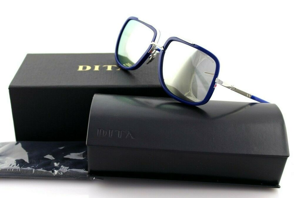 2ab09bac8fd Details about LIMITD EDTITION Genuine DITA MACH ONE 1 Blue Silver Mirror  Sunglasses DRX 2030 J