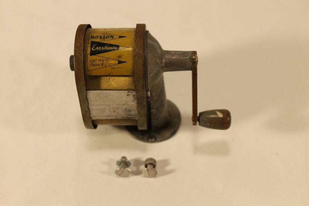Vintage Boston Everhandy Pencil Sharpener Mechanical Hand