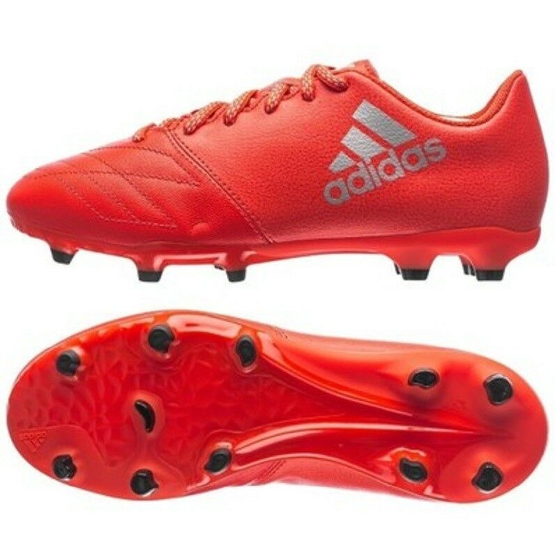 Details about Boys Adidas X 16.3 FG LEATHER FOOTBALL Junior Performance  Boots GENUINE UK-5-5 a9a9eb879