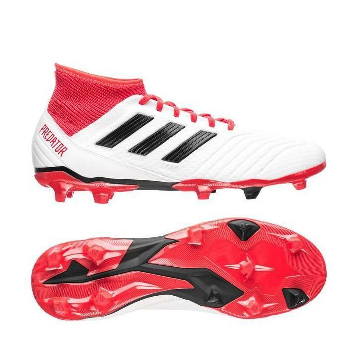 0a373d6a1 Details about adidas Predator 18.3 FG Firm Ground Football Boots - Footwear  White/Core Black