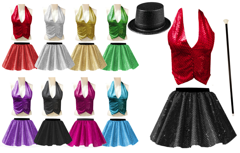 Girls Ringleader The Greatest Showman Costume Sequin Skirt Or