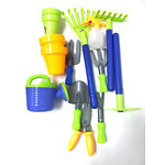 Beach Tools Toy Set for Kids with 8 Gardening Tools, 4 Pots, Water Pail PS949-1