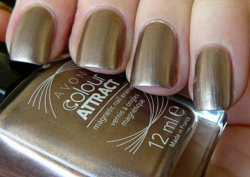 AVON COLOUR ATTRACT MAGNETIC NAIL POLISH ~ HYPNOTIC BRONZE ~ 12ml ...