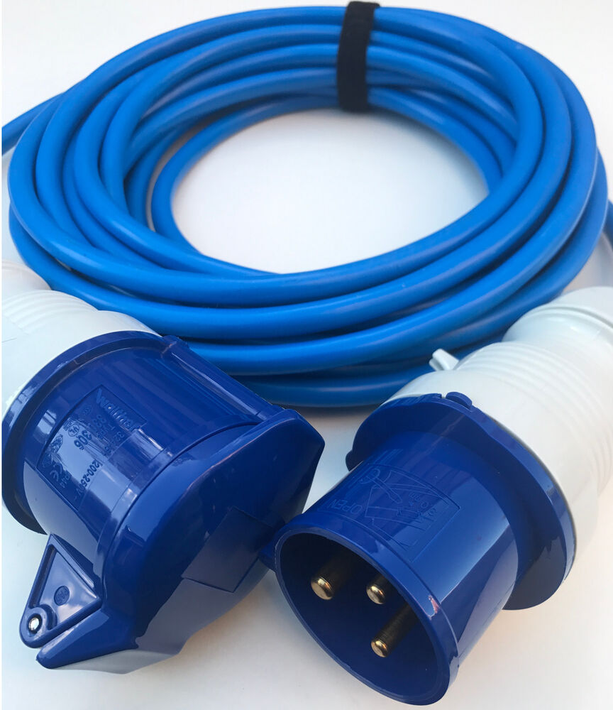 32 amp 4mm BLUE ARCTIC Extension Cable 240v Wire Hook Up ...
