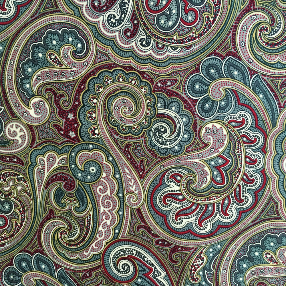 Persian Fabric: Paisley Fabric, Cotton Lawn, Persian Indian, Vintage Style