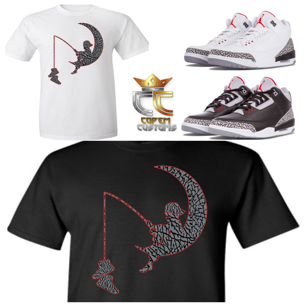 2ea860b6213 Details about EXCLUSIVE TEE/T SHIRT 2 to match NIKE AIR JORDAN 3 CEMENTS/JTH  & ELEPHANT PRINTS