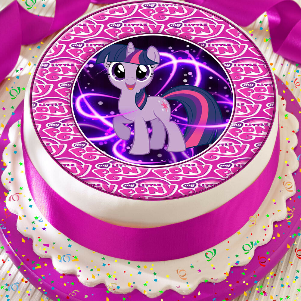 MY LITTLE PONY TWILIGHT SPARKLE PRECUT EDIBLE 75 INCH BIRTHDAY CAKE TOPPER
