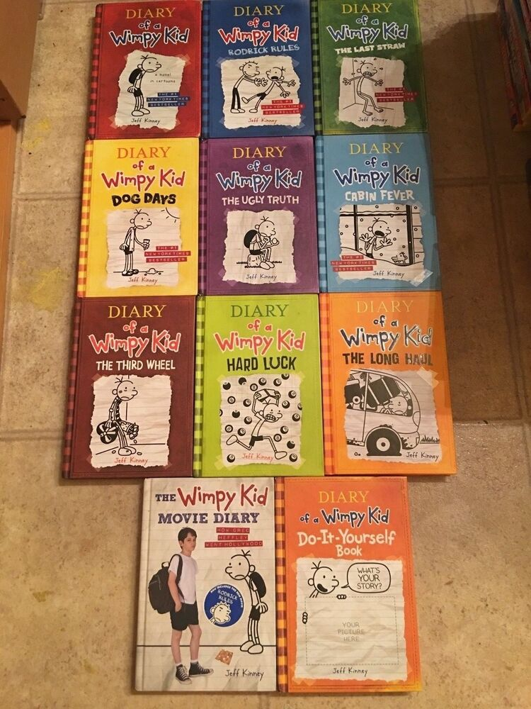Diary of a wimpy kid books 1 9 moviedo it yourself hardcovers diary of a wimpy kid books 1 9 moviedo it yourself hardcovers great shape ebay solutioingenieria Images