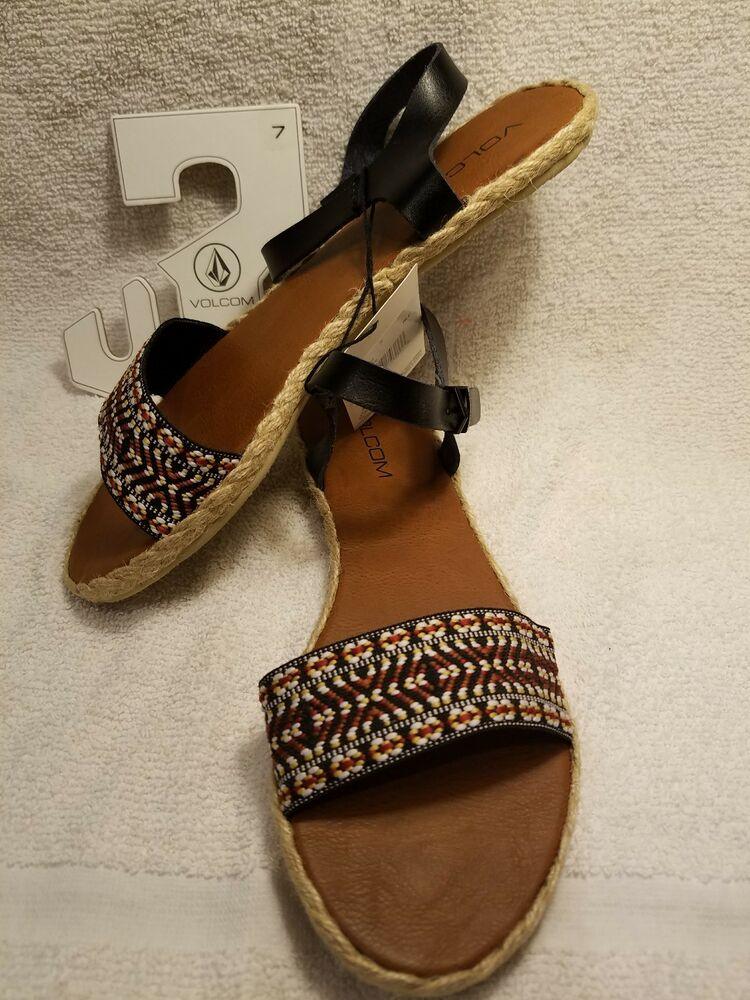 87223a3099d56 Volcom Women s Finley Huarache Sandal SZ 7 NEW WITH TAGS IN BAG