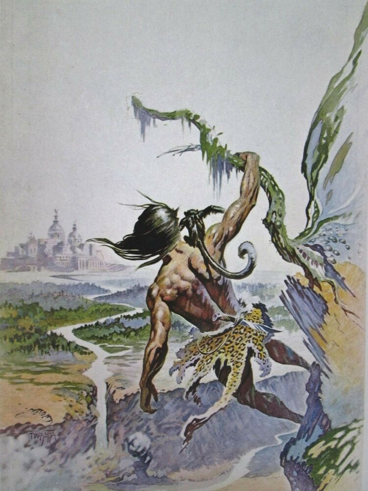 Image result for frank frazetta tarzan cover