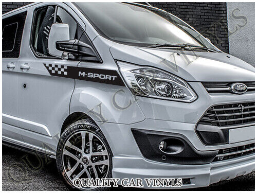 m sport ford transit custom side racing stripes graphic. Black Bedroom Furniture Sets. Home Design Ideas