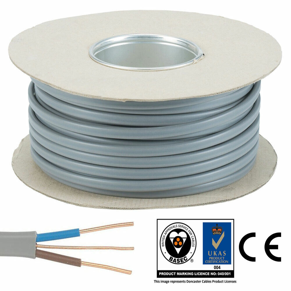 1.5mm 50M Roll Twin and Earth T&E Electric Cable Wire Lights ...