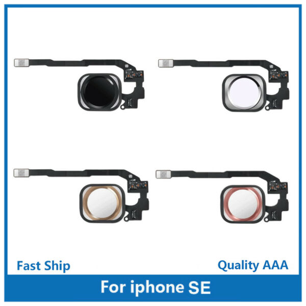 iPhone SE and 5S Home Button Replacement Parts with Rubber Gasket