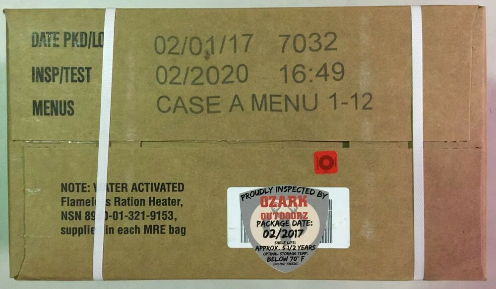 with by review survival outdoor activities mre watch for years life emergency shelf food tabs