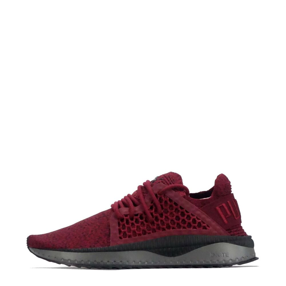 Details about Puma Tsugi Netfit Evoknit Men s Shoes in Red Black 53f2ee31d