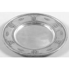 Wallace Sterling Silver Rose Point Bread Plate 4600-9 (1934)