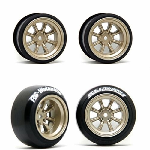 scale dynamics 10111 v16d rs watanabe wheels gold 9mm offset ebay