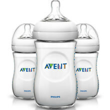 PHILIPS Avent 3 Pack 9oz Natural BPA-free Baby Bottle - SCF013/37
