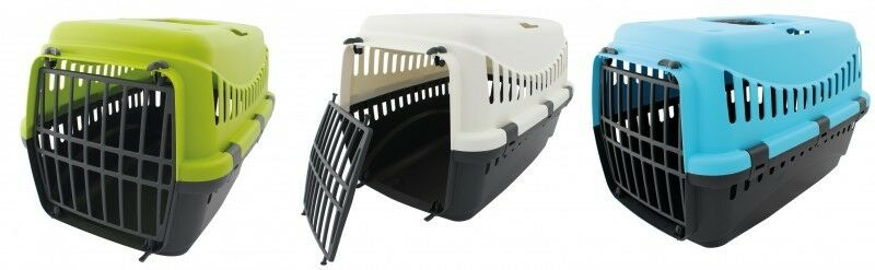 transportbox f r tiere kleine hunde katzen kleintiere transport box tragegriff ebay. Black Bedroom Furniture Sets. Home Design Ideas