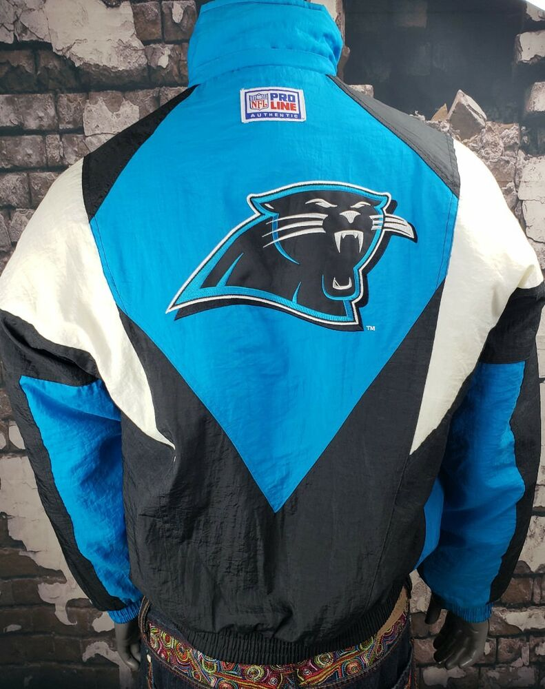 Vtg Carolina Panthers Pro Player NFL Football Parka Jacket Coat  hot sale