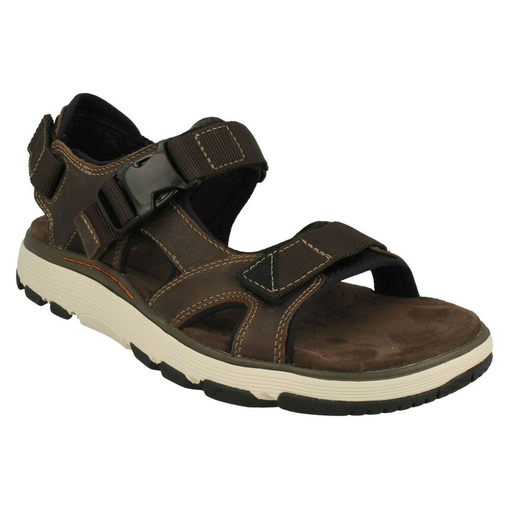 f061327c1cc3 Details about MENS CLARKS NUBUCK LEATHER BUCKLE UNSTRUCTURED SANDALS SHOES  SIZE UN TREK BAR