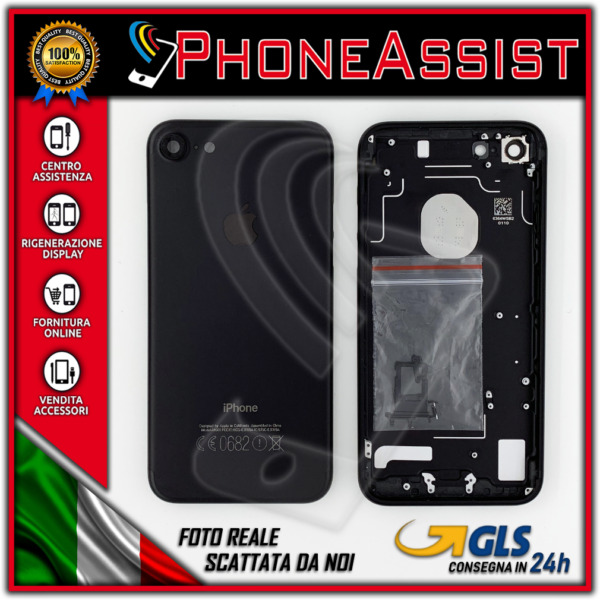 TELAIO SCOCCA POSTERIORE iPhone 7 BACK HOUSING 7G Nero Opaco (Matte Black)