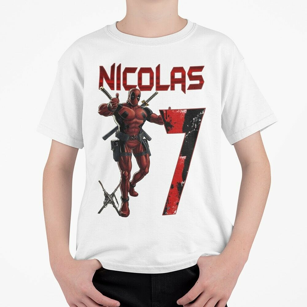 Details About Deadpool Personalized Inspired Birthday Shirt Custom Name And Age Hero