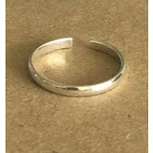 .925 Sterling Silver Toe Rings Traditional Band 2mm, 3 or 4mm $6.49~$8.99