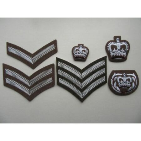 img-British Army FAD / Jumper rank badges [pairs]. L/cpl-WOII. New, unissued.