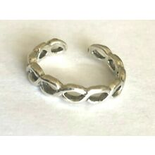 925 ALL Sterling Silver Toe Rings 2 Styles Double Weave $6.09 + $6.99