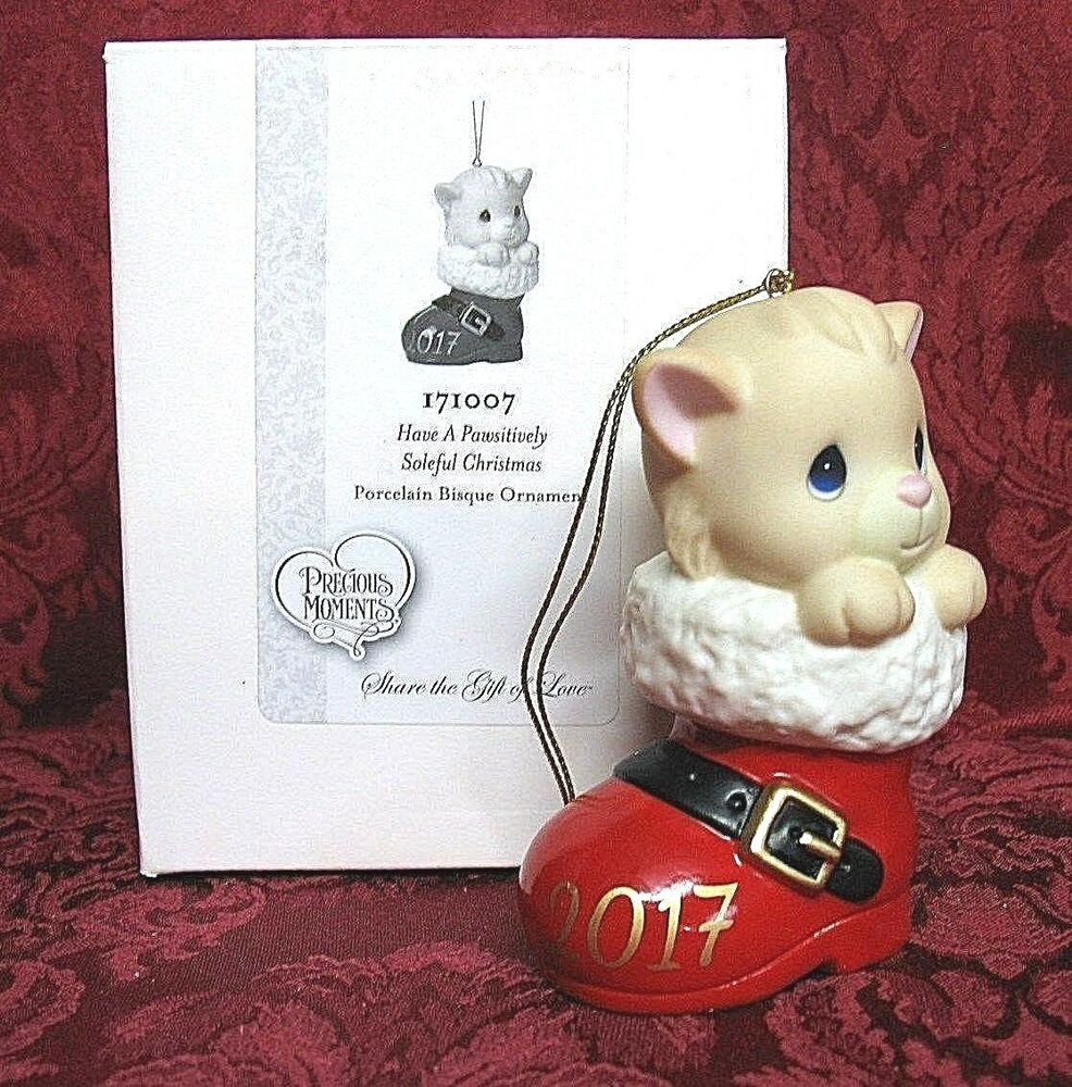 PRECIOUS MOMENTS DATED 2017 CAT ORNAMENT~HAVE A ...