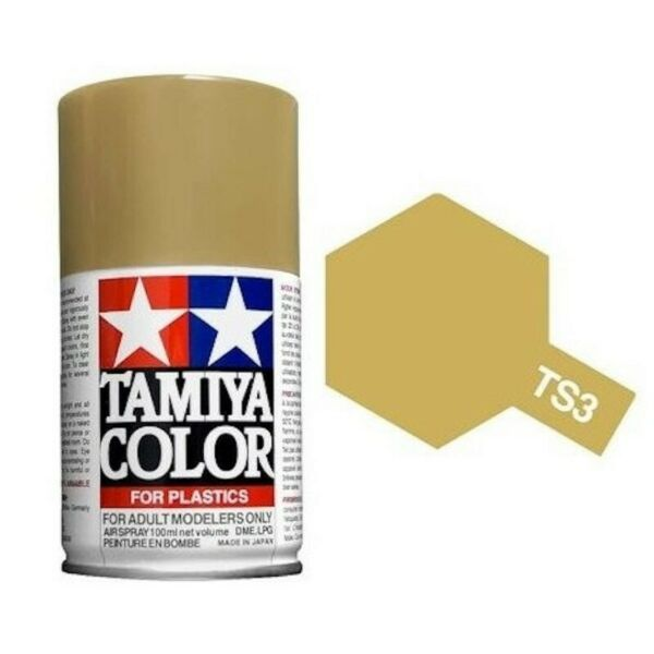 Tamiya TS-3 - jaune sombre mat - dark yellow - bombe 100 ml