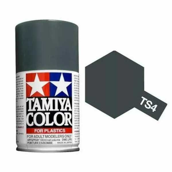 Tamiya TS-4 - Gris Panzer mat - German Grey - bombe 100 ml