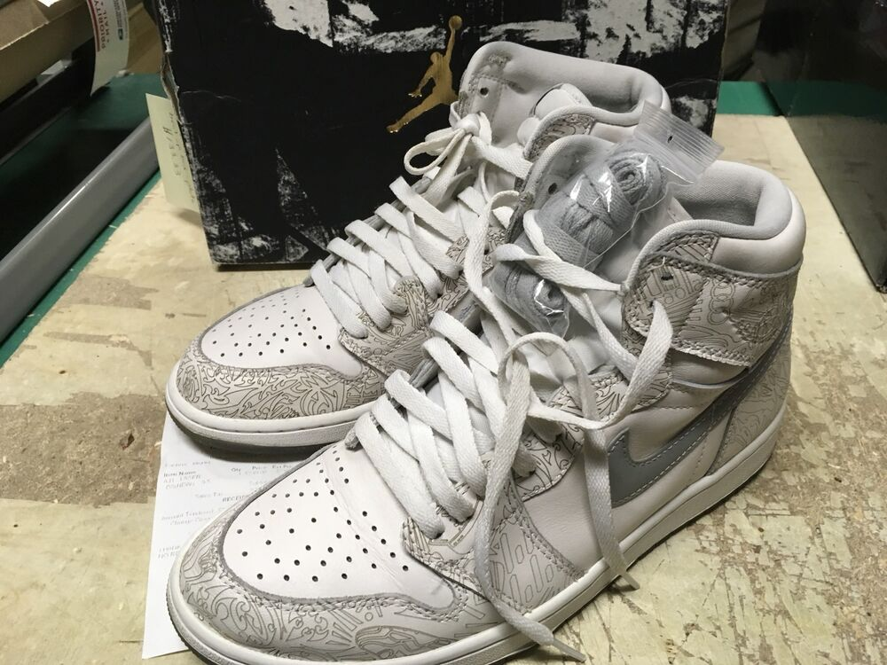 brand new ca028 68171 Details about USED MENS NIKE AIR AIR JORDAN 1 RETRO HI OG LASER WHITE  705289 100 SZ 9.5 FREE