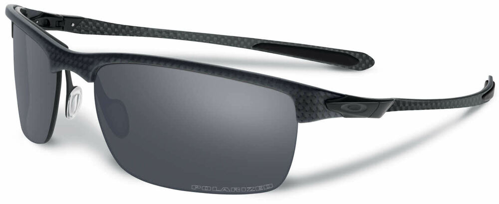 0cec4825cb8 Details about Authentic Oakley CARBON BLADE Polarized Black Iridium  Sunglasses OO9174-03