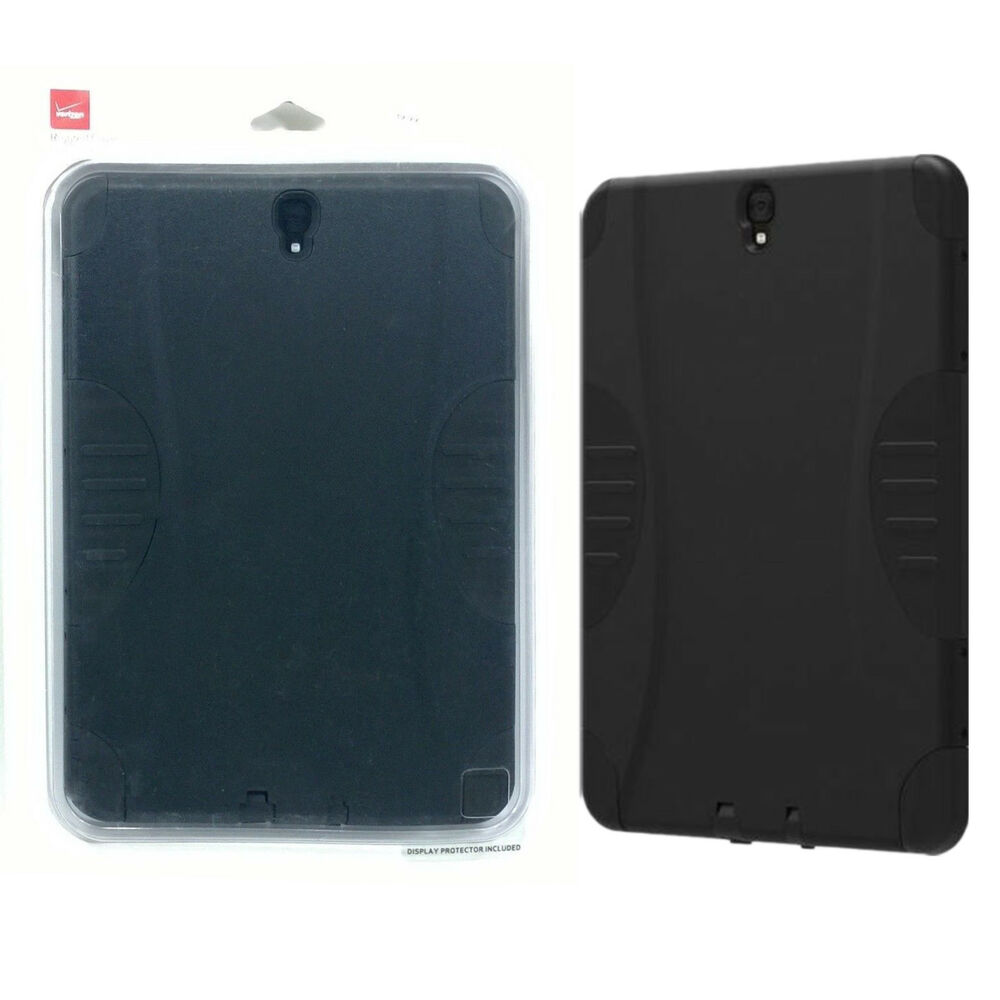 separation shoes c71a9 f19ce Verizon Rugged Built-In Screen Cover Protective Case For Samsung Galaxy Tab  S3 | eBay