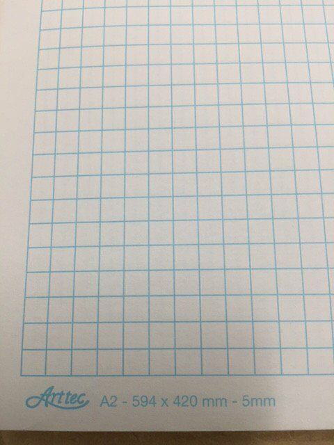graph paper a2 594 x 420mm  2mm or 1mm sheet  by one  or